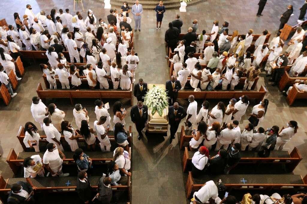 Rayshard Brooks, black man, funeral, Atlanta, United States, shot, dead, police, George Floyd