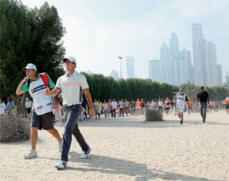 Rory McIlroy leads the pack in Dubai Desert Classic