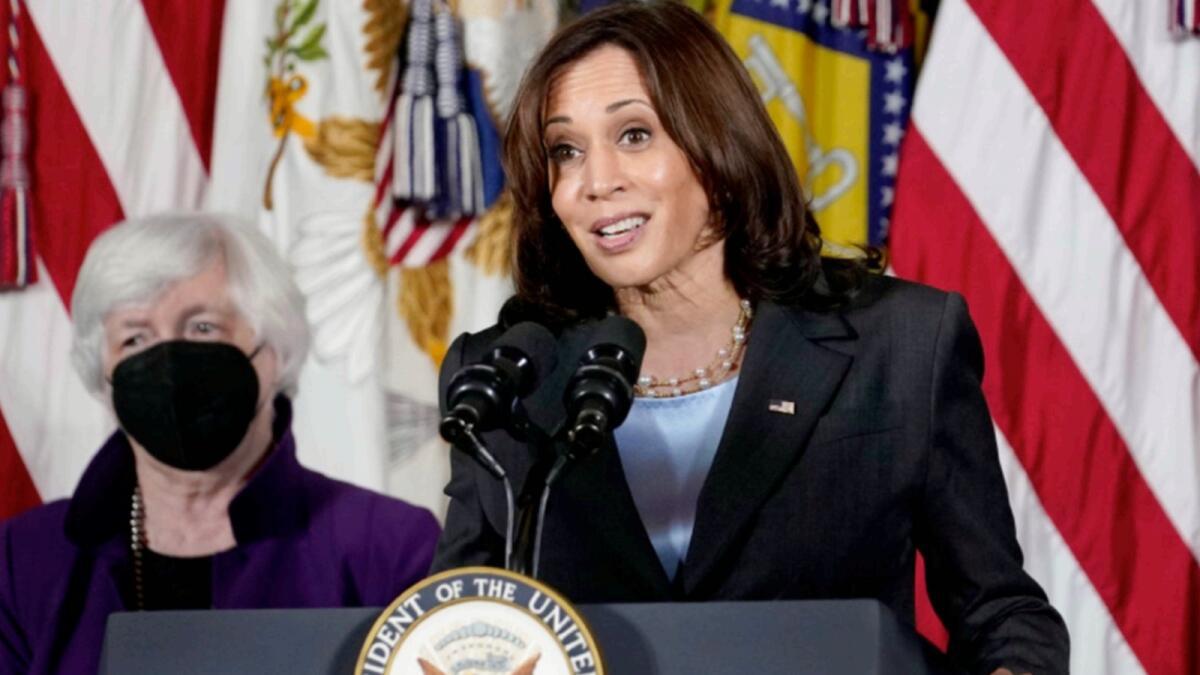 US Vice-President Kamala Harris. — AP
