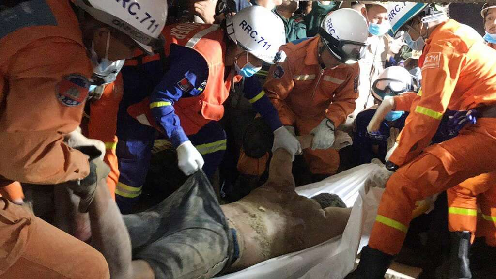 Cambodia, building collapse, death toll, 36, rescue, called off,