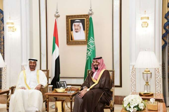 Sheikh Mohamed, Saudi Crown Prince discuss latest regional