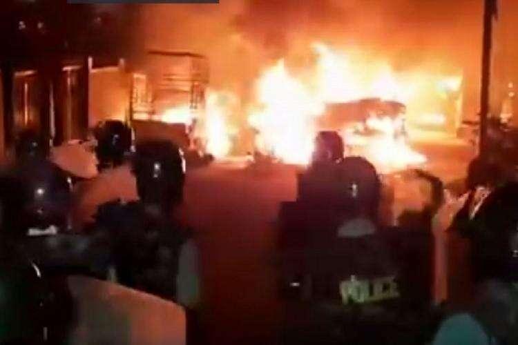 violent protests, eastern bengalaru, derogatory, message, Akanda Srinivas Murthy