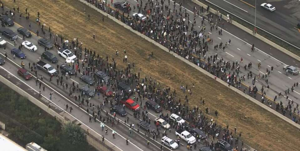 US, Denver, Denver, Colorado, protester