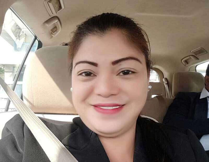 The driver Fritzie Castro, 43, a Filipina, has been in Dubai for seven years.