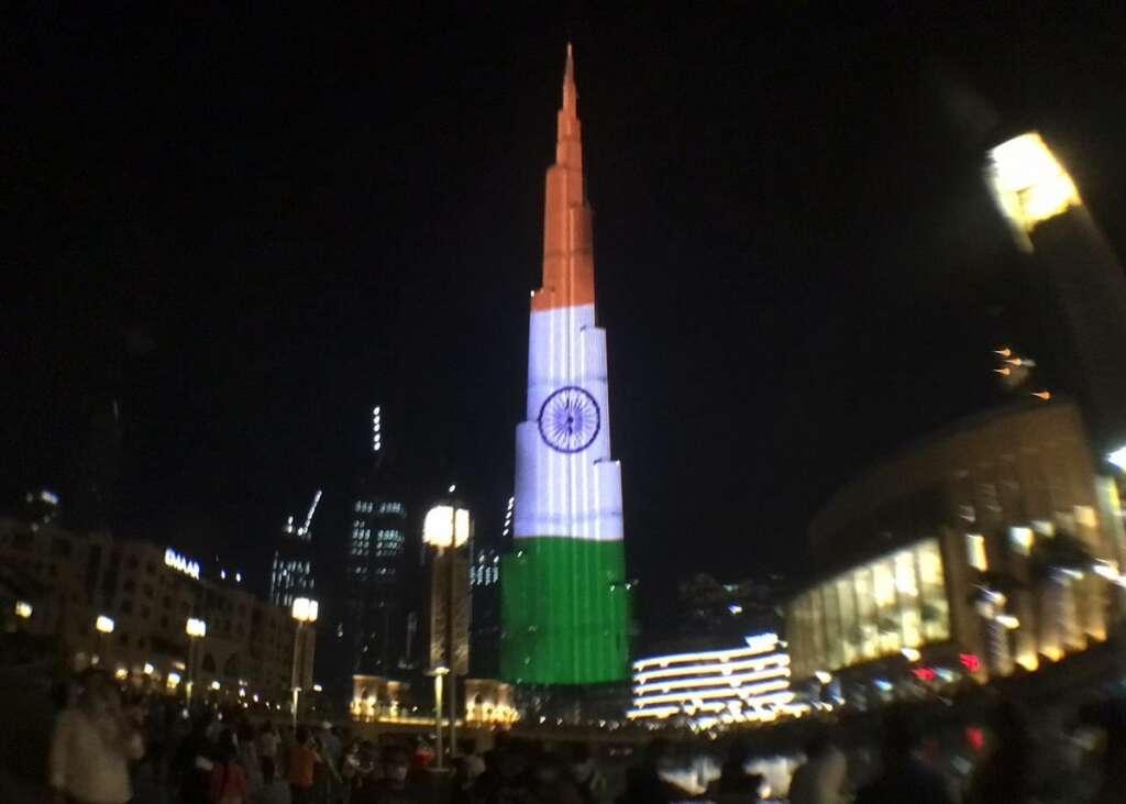 Dubai, Burj Khalifa, light up, Indian Triclour,