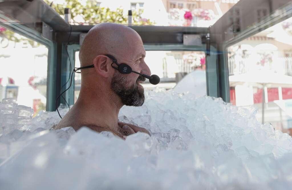 Austrian, breaks record, box of ice