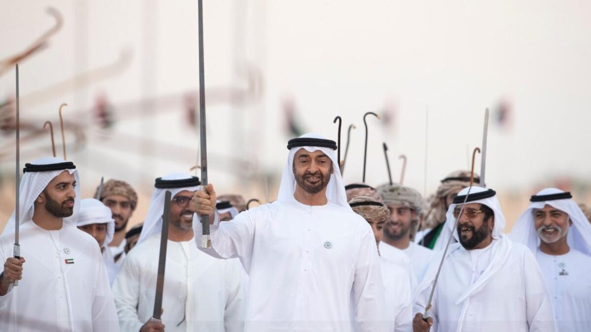 Photos: Sheikh Mohamed attends March of the Union in UAE