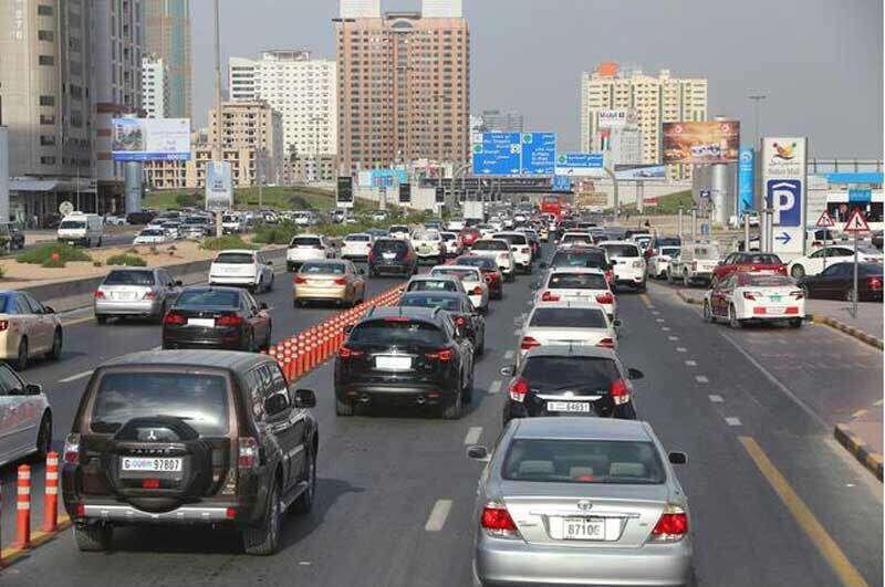 UAE traffic: Slow moving traffic on Dubai, Sharjah roads