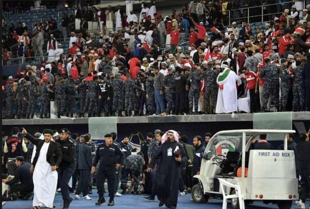 stadium 40 år 40 injured as stadium barrier collapses at Gulf Cup final  stadium 40 år