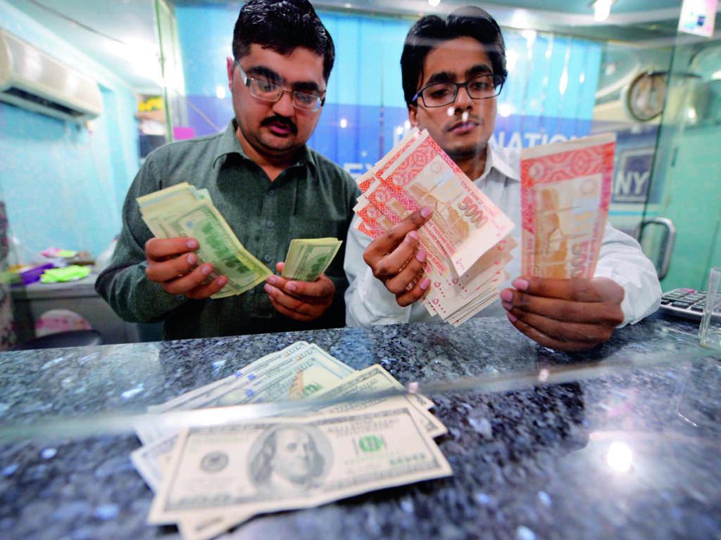 Pak rupee on slippery road