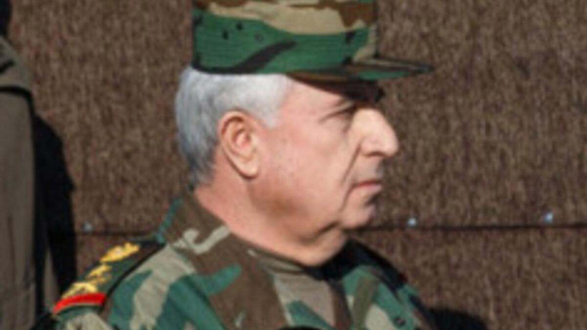 Syrian Defence Minister and Chief of Staff Ali Ayyoub. — Courtesy:Wiki Commons