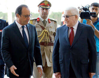 Hollande offers increased military assistance to Iraq