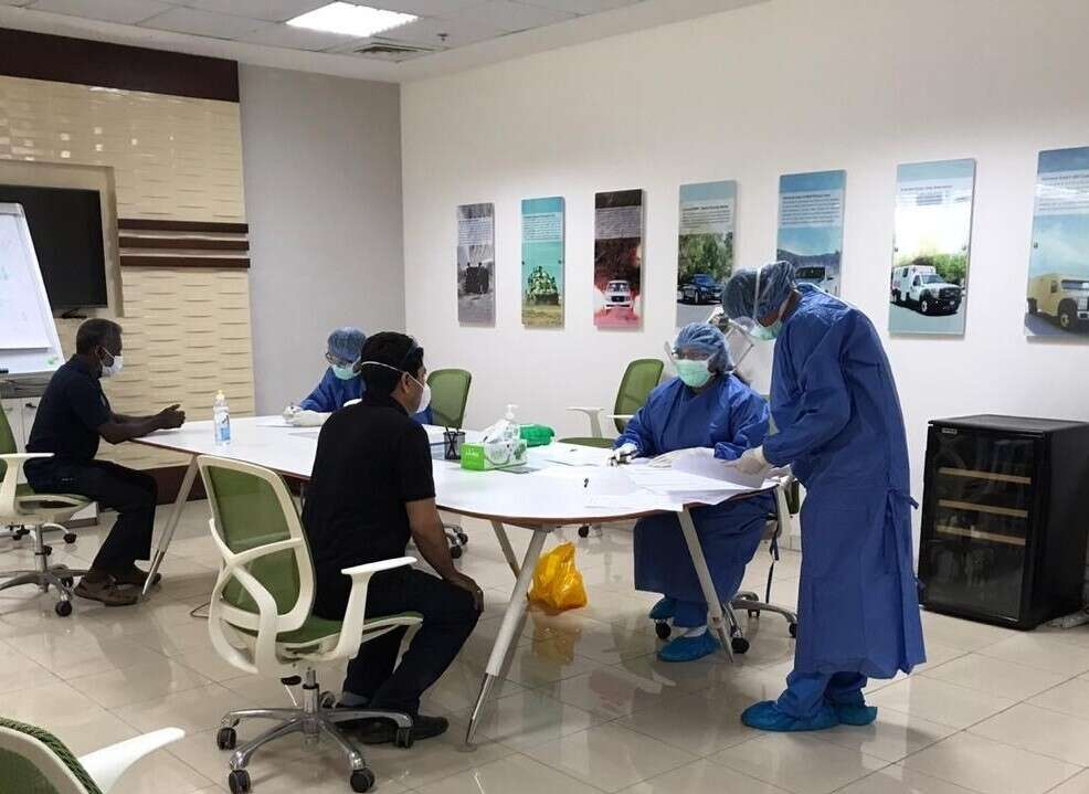 Combating, coronavirus, Medical, check-ups, rolled, 10,000, Ras Al Khaimah Economic Zone, workers