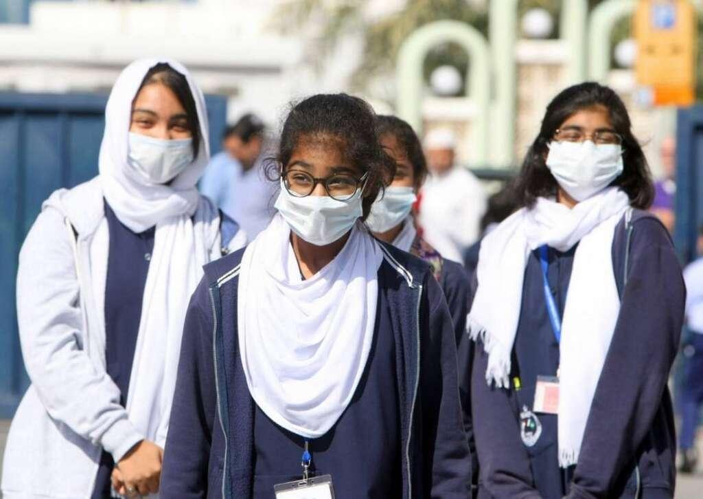 Schools, mask, KHDA