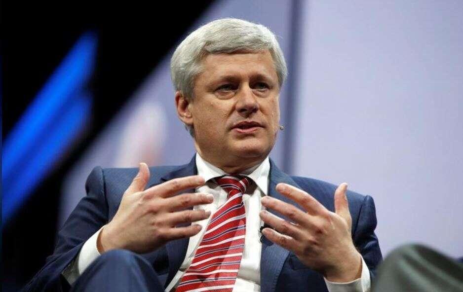 Former Canadian Prime Minister Stephen Harper.- Reuters