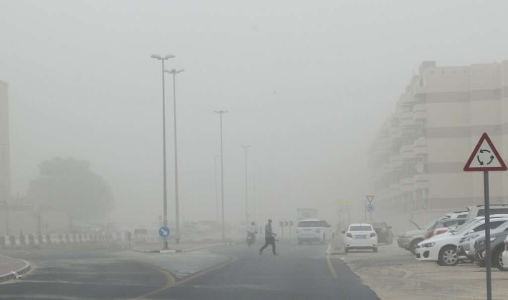 Video, Sandstorm, heavy rain, hits, parts of UAE, second day of Eid Al Fitr,