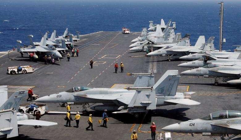 US navy strike group heads toward Korean peninsula
