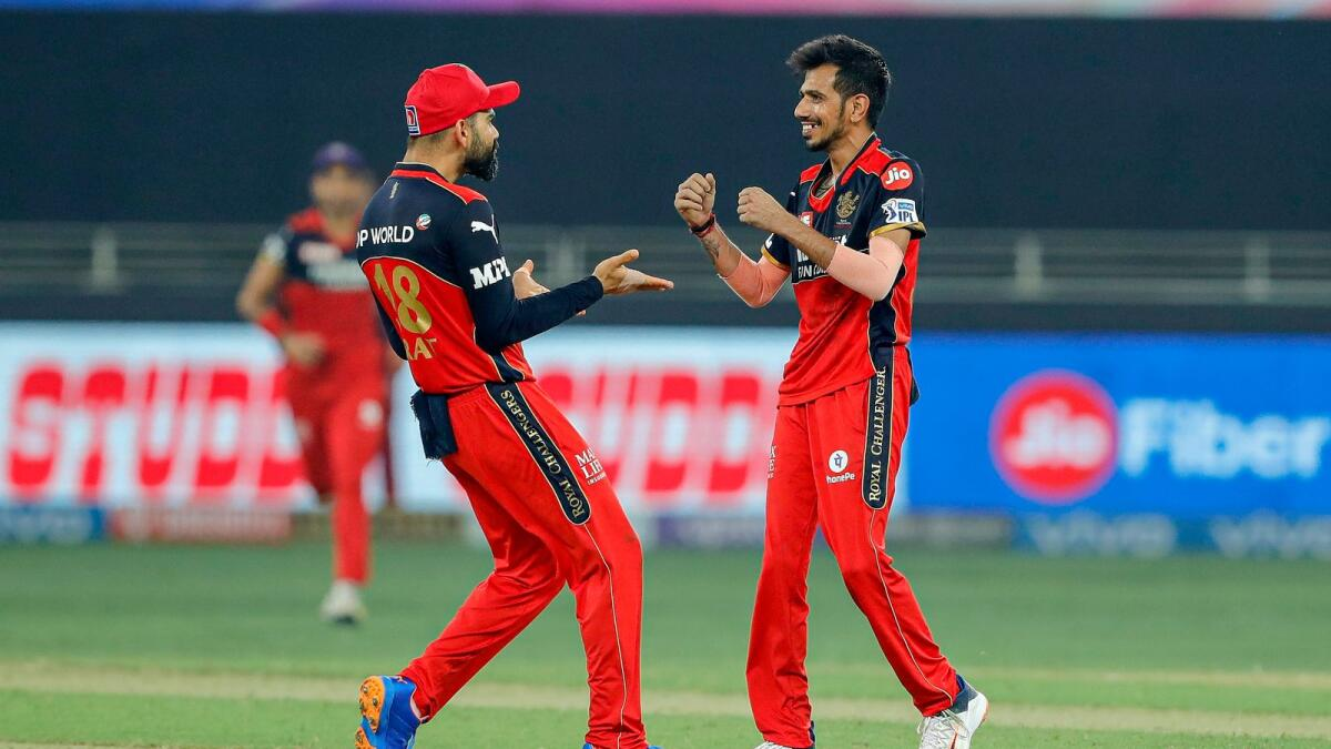 Yuzvendra Chahal (right) has shown excellent wicket-taking form. (BCCI)