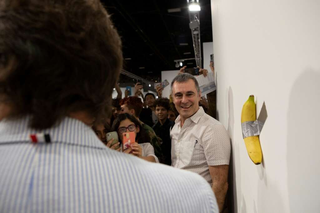 He paid $150,000 for what? Art slips on a banana peel