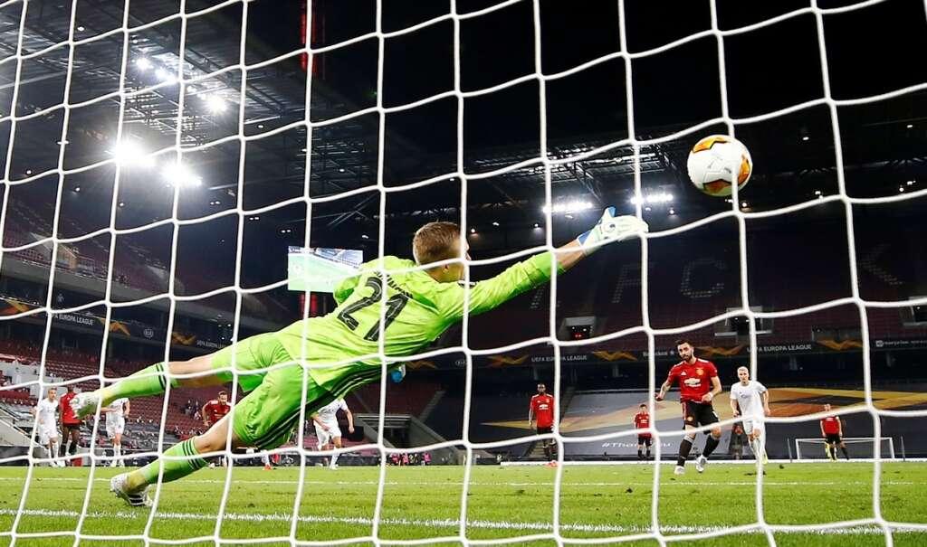 bruno fernandes, penalty, extra time, manchester united, 1-0, win, fc copenhagen, europa league, quarter-finals