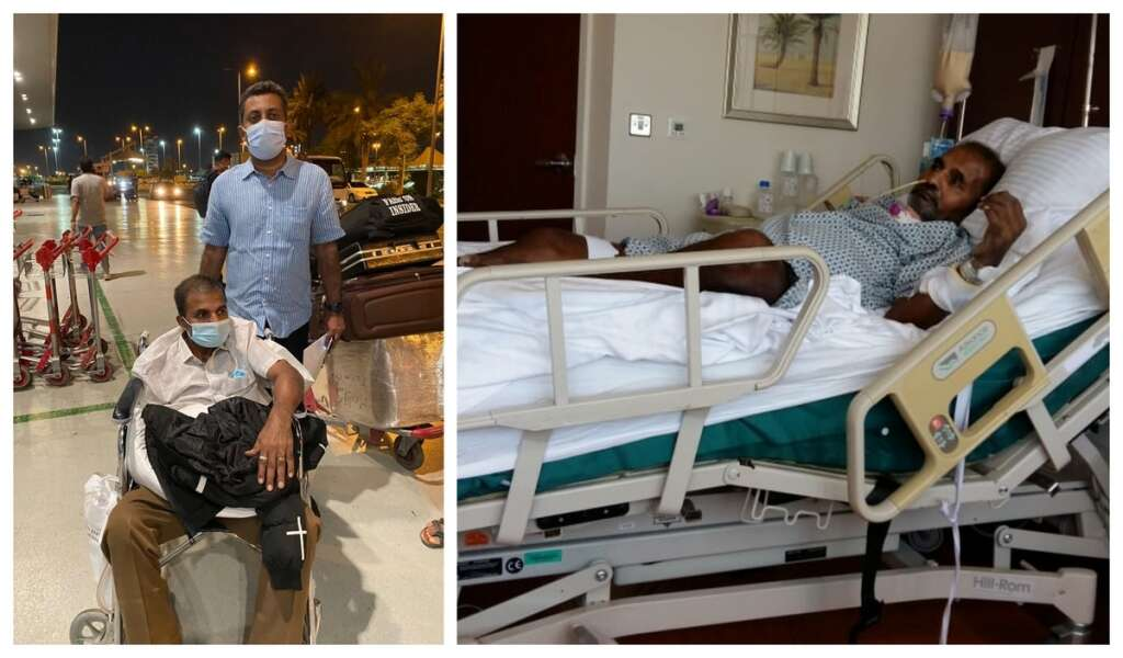 Bedridden expat, flies to India, Dh1.6 million, hospital bill, waived, UAE