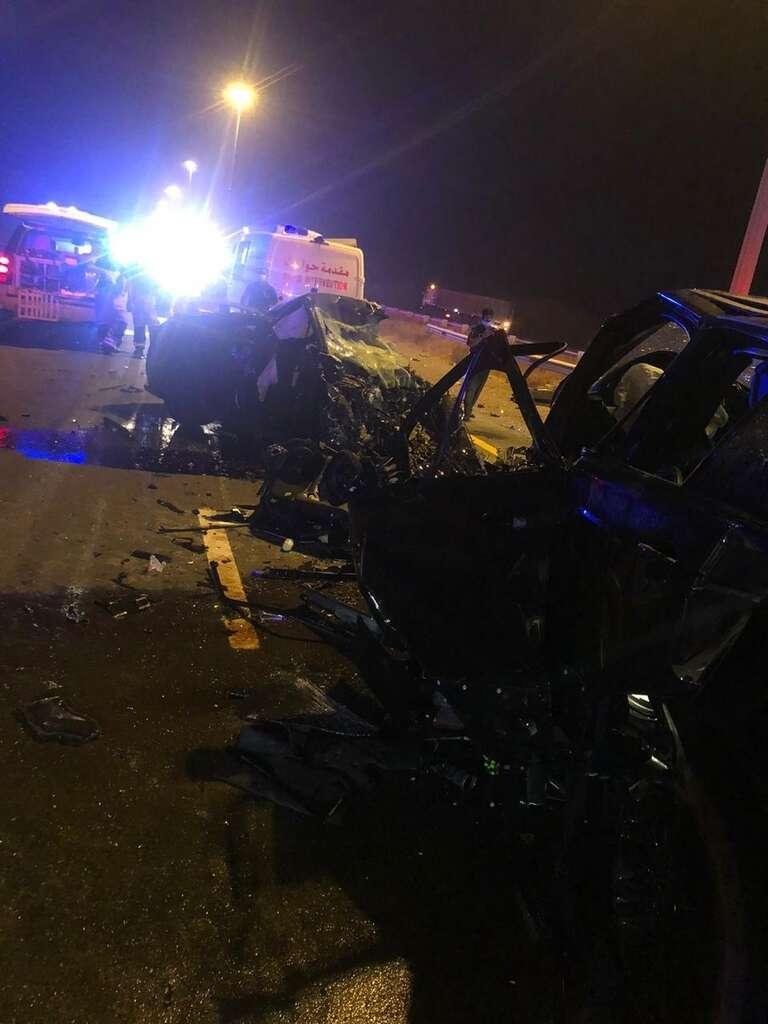 road accident, umm al quwain, sheikh mohamed bin zayed road