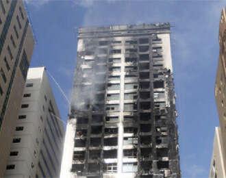 Cigarette butt caused blaze at Al Tayer Tower - Khaleej Times