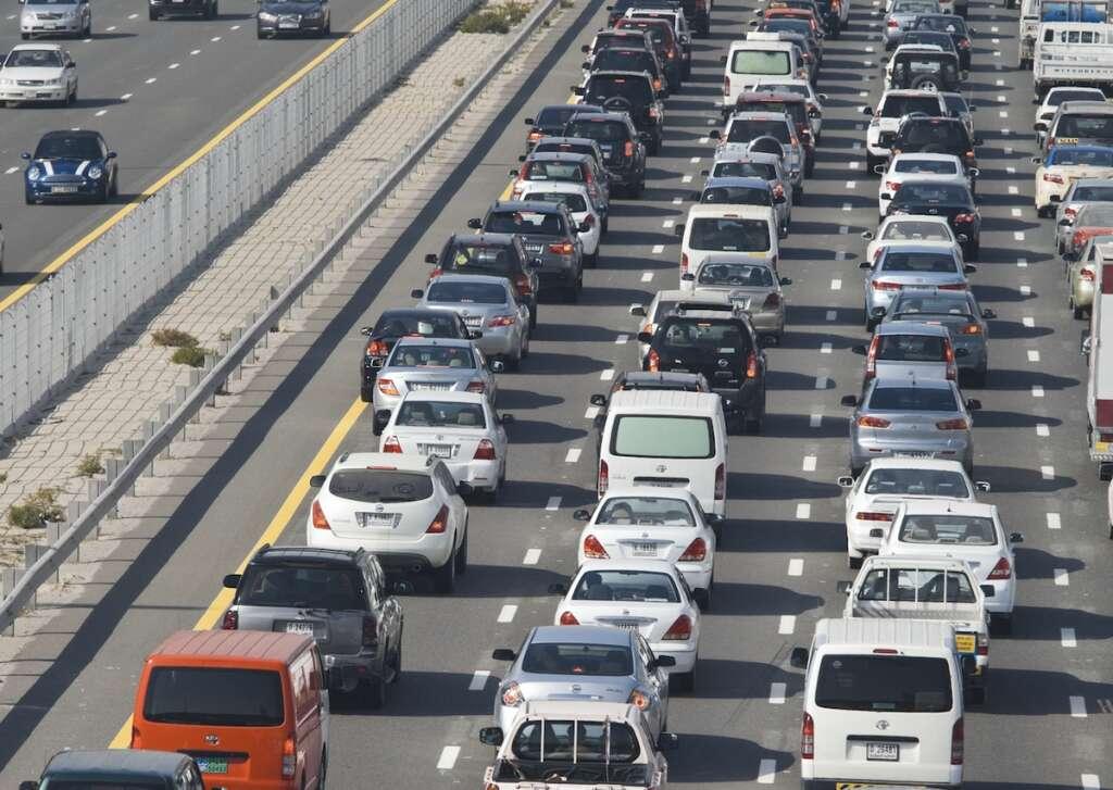 Multiple accidents, traffic, UAE traffic