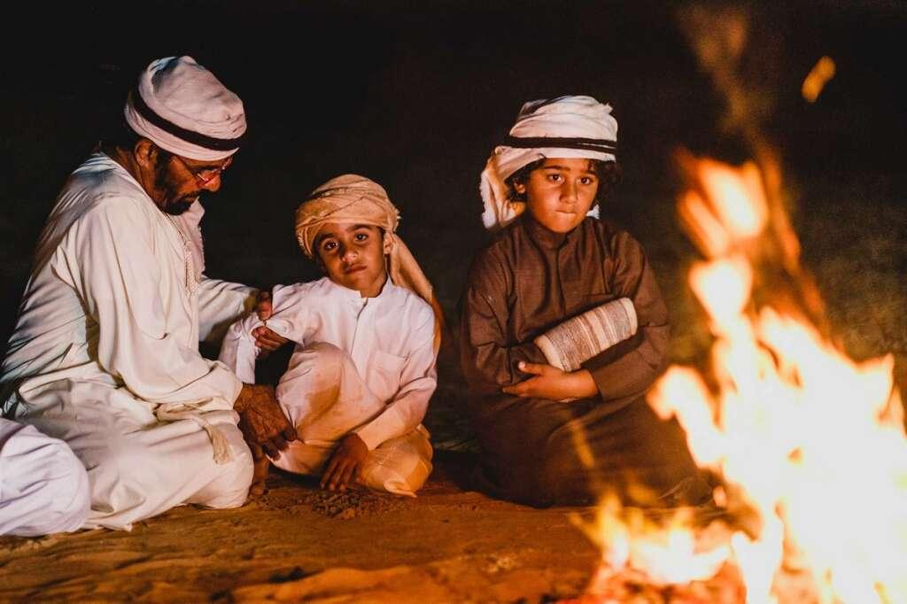 Emirati, Bedouin elder, shares, desert life, camel trekkers, 68-year-old, Emirati Hilal Ahmed Abu Ibrahim,  campfire