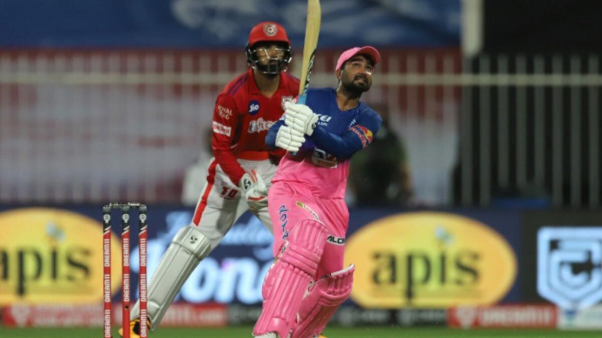 Rahul Tewatia played one of the greatest IPL knocks last year at the Sharjah Cricket Stadium. (BCCI)