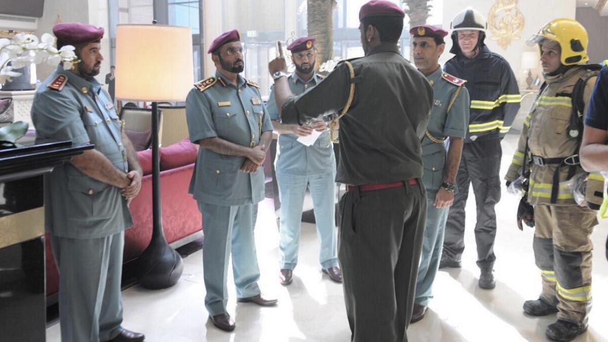 Six injured in Abu Dhabi hotel room fire