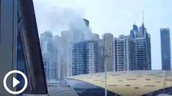 WATCH: Fire under control in Dubai Marina
