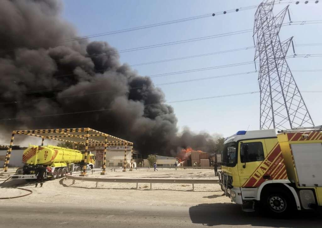 Dubai, fire, Umm Ramool area