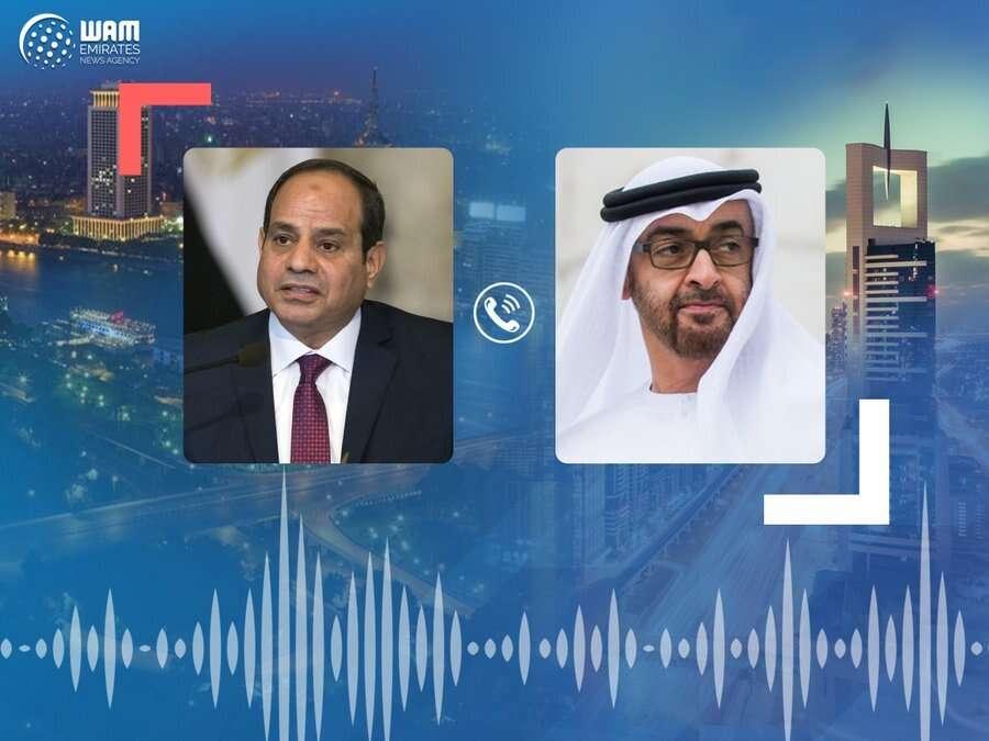 sheikh Mohamed, phone call, uae, Egyptian president abdel Fattah al sisi