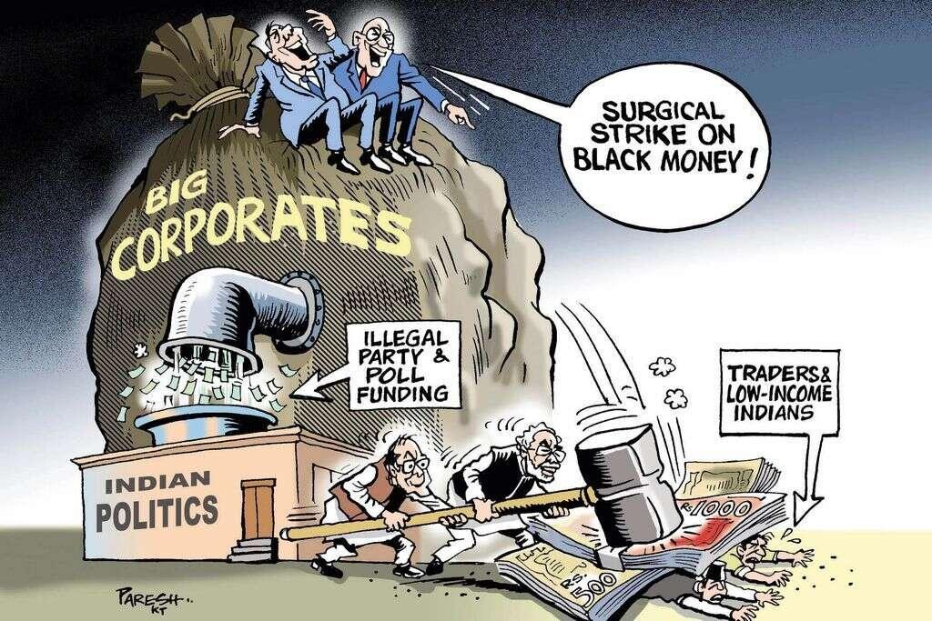 Modis surgical strike on black money