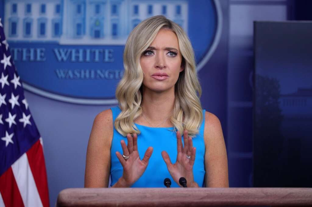 White House, China's slaughter, of protesters, Tiananmen Square, not forgotten, Kayleigh McEnany