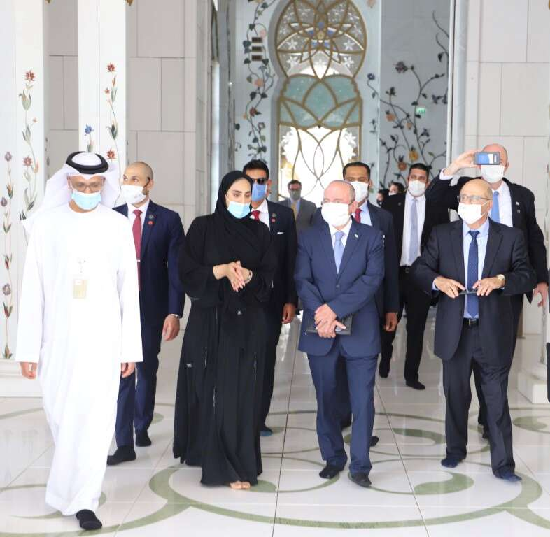 Israel, head, national, security council, meir ben-Shabbat, visited, abu dhabi, sheikj Zayed grand mosque