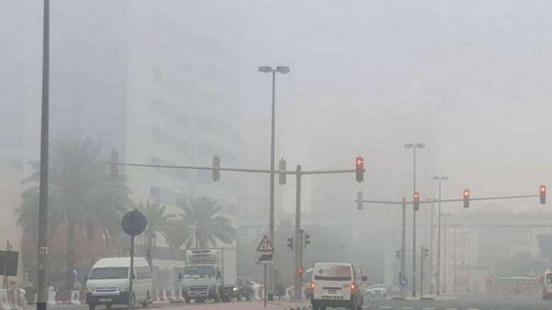 national center of meteorology, ncm, fog, formation, warning, poor horizontal visibility, uae, weather, sunny, partly, cloudy