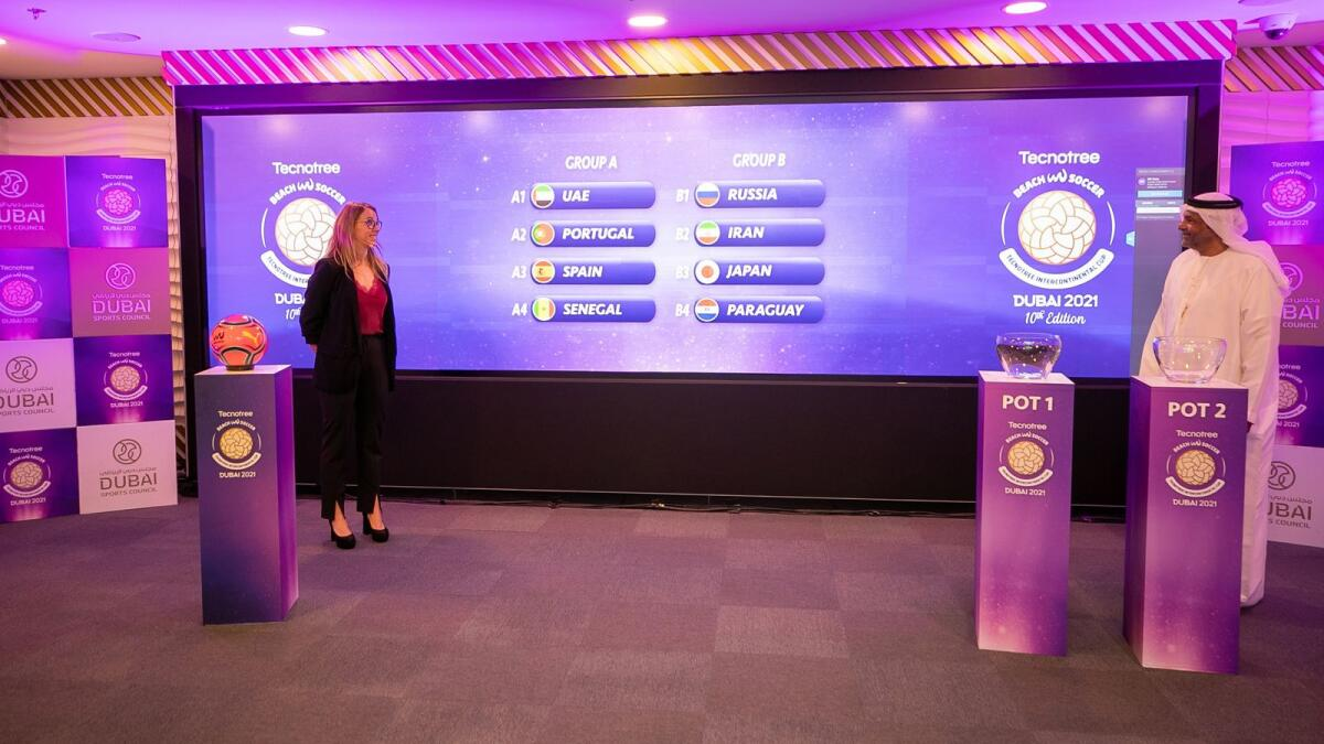 The draw was held on Tuesday at Dubai Sports Council headquarters. (Supplied photo)
