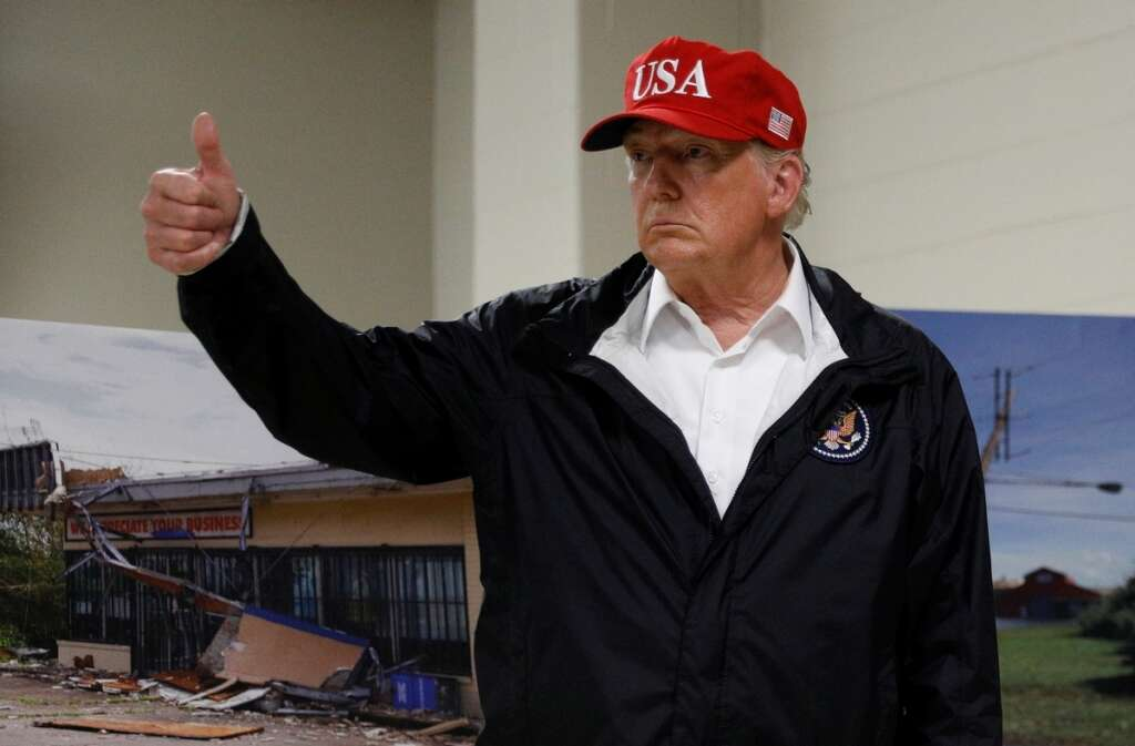 donald trump. video, footage, trump, telling, people, hurricane laura, responders, sell, autograph, ebay, $10,000