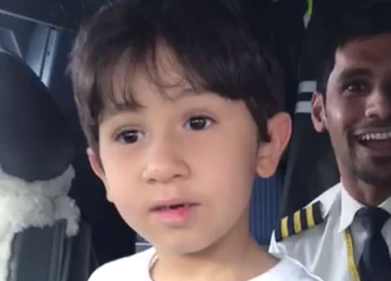 Video: 6-year-old UAE boy knows how to fly a plane