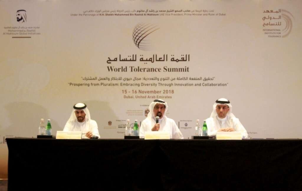 Tolerance summit press conference.-Supplied photo