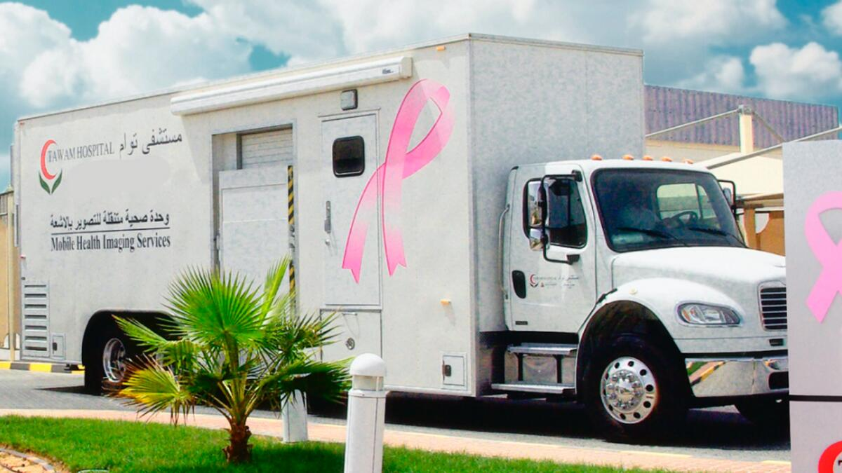 Mobile mammogram trucks will be stationed at various clinics in Abu Dhabi.