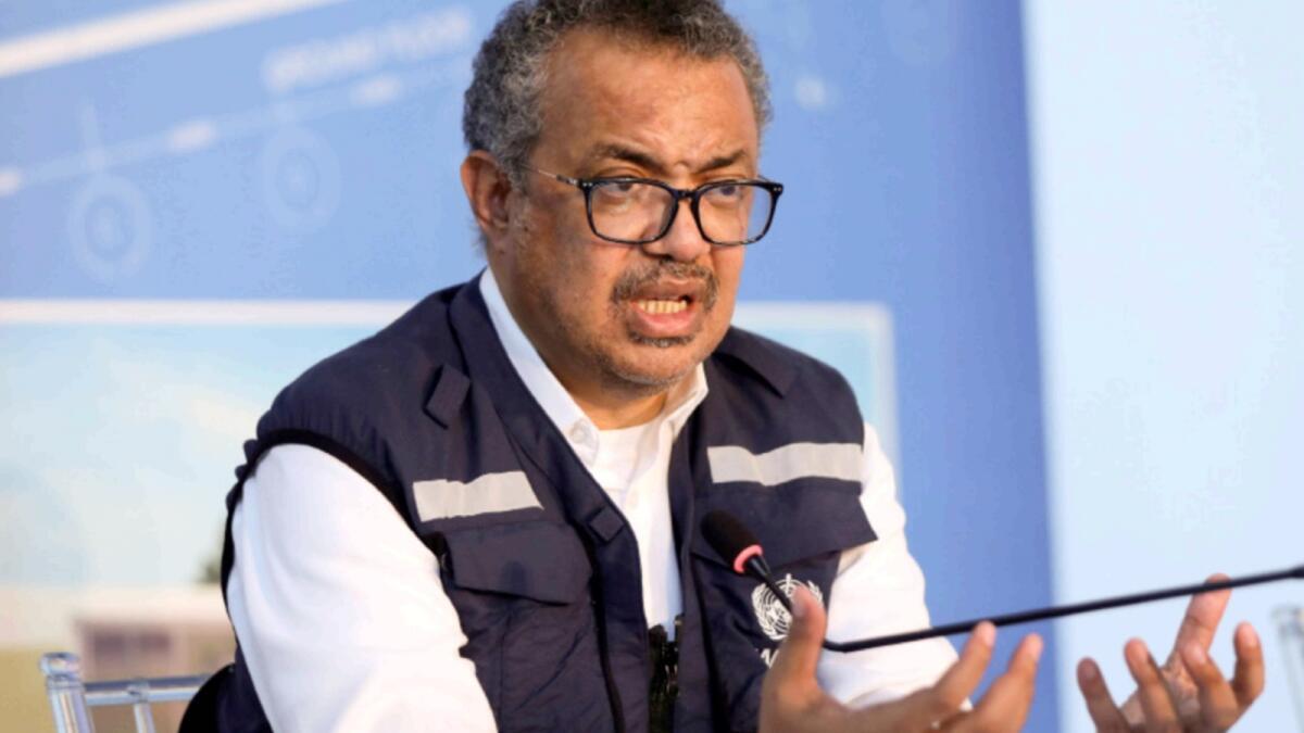 World Health Organisation Director-General Tedros Adhanom Ghebreyesus. — Reuters