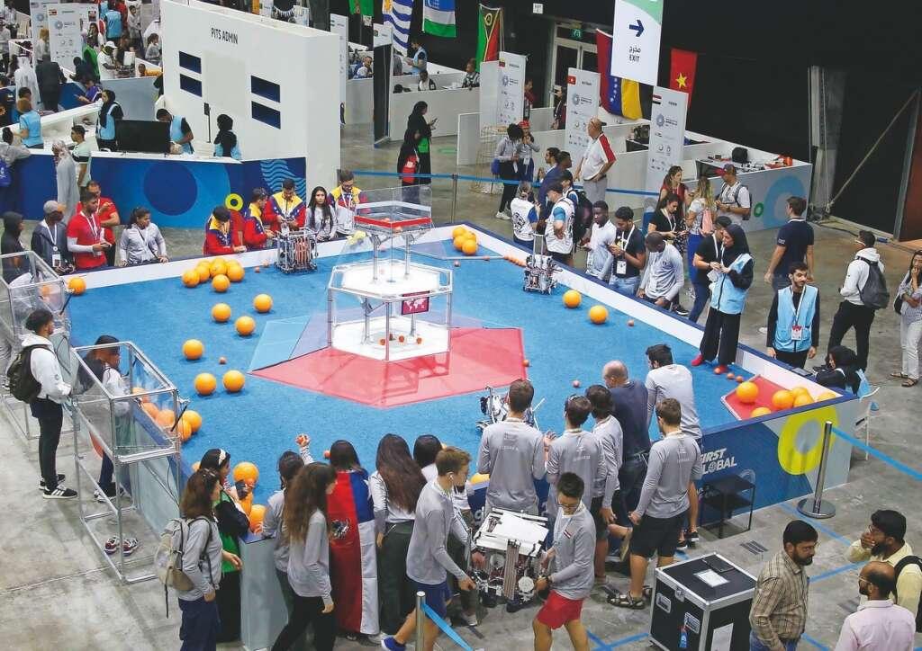 First Global Challenge,  robots, Dubai, robotic challenge.