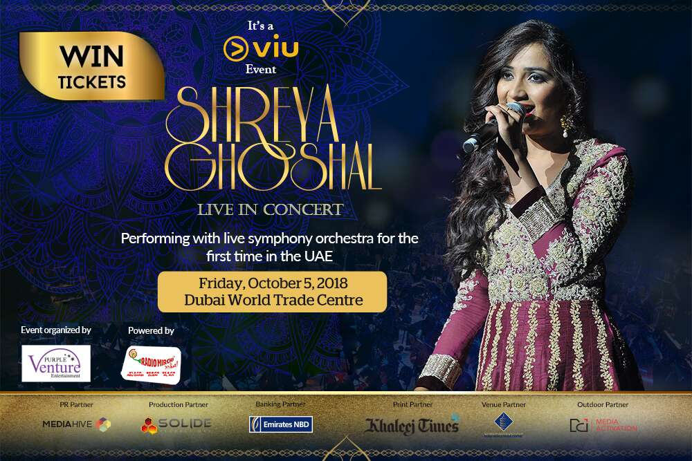Win Tickets For Shreya Ghoshal Concert - News | Khaleej Times