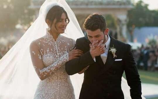 Nick's sweet hidden Urdu message in wedding suit for