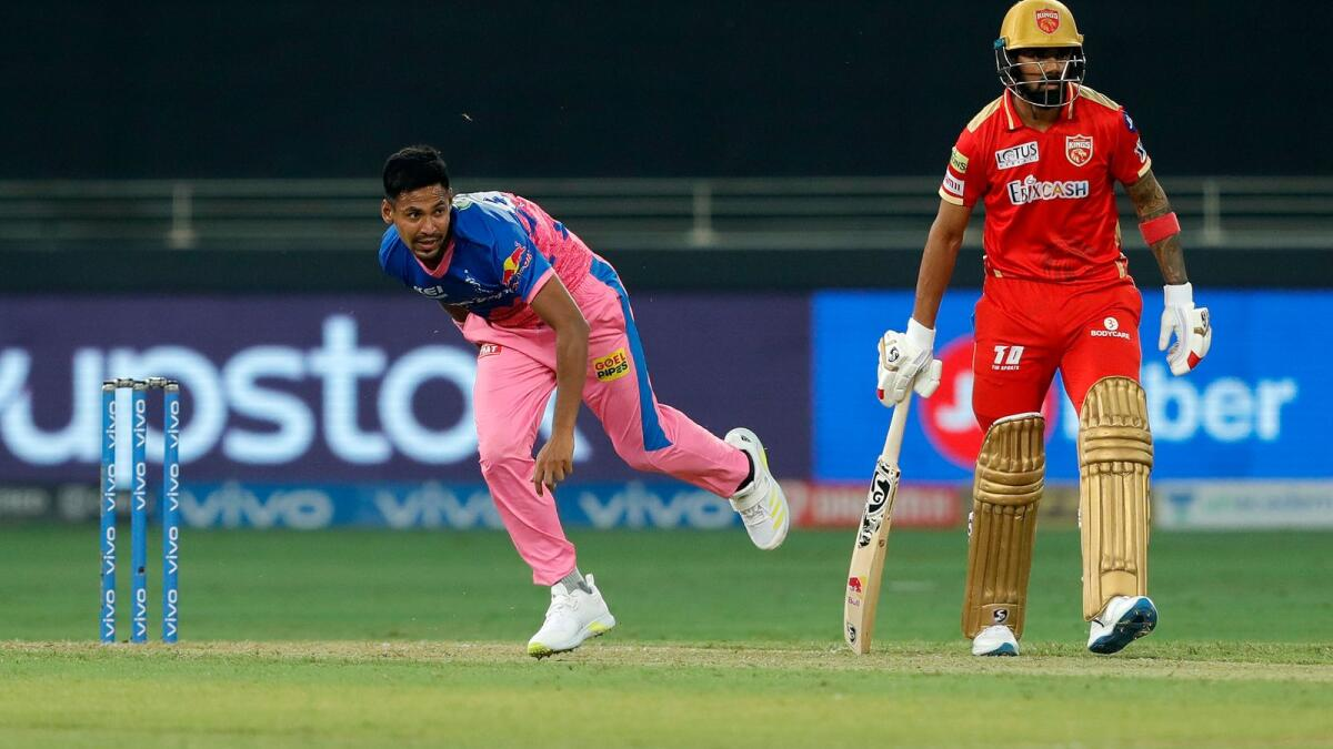While Kartik Tyagi earned all the accolades for the fantastic last over against Punjab Kings, Mustafizur Rahman was also brilliant in the penultimate over of the game. (BCCI)