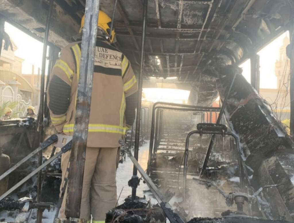 School bus catches fire in Sharjah, students safe - News