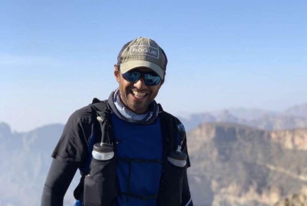 Dubai expat, ran, desert, 42 hours, memory of his daughter